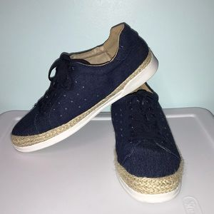 Denim and Fabric Twine Sneakers!